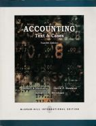 Accounting: Text & Cases