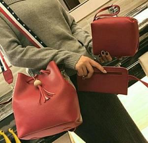 ( 3 IN 1 ) Tri Shoulder Bucket Bag Set