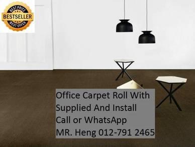 Modern Plain DesignCarpet RollWith Install6y