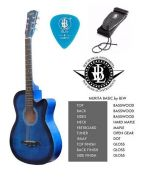 Basic Guitar - FREE Strap & Pick (Blue)
