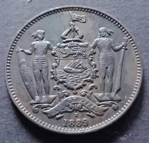 British North Borneo Co One Cent 1889H