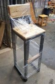 Pallet Pine Wood industrial design bar stool