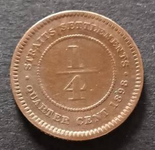 Straits Settlements 1/4 Cent 1898 (Item C)