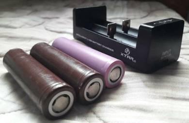 Charger + battery vape utk dijual