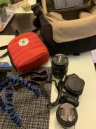 Sony Alpha 55 with Many Accessories
