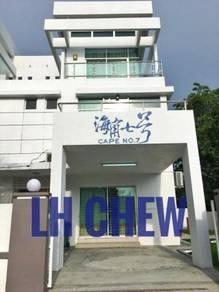 3 Storey Terrace corner at Teluk Kumbar seaview fully furnished