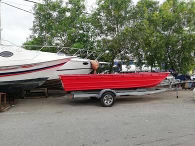 Aluminium boat 18ft x 6ft (brand savage)