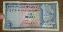 Malaysia ringgit note (rm) 1.00