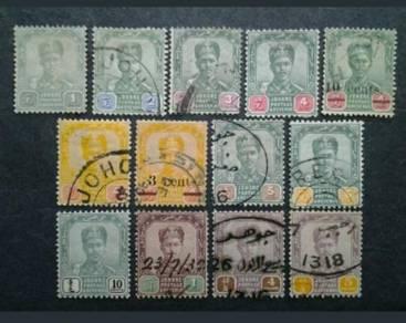 1896 Johore Straits Settlements Malaya Short 1&2