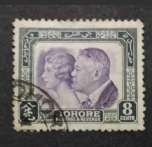 Malaya 1935 Johore Sultam Sur Ibrahim&Sultanah;-Use