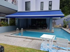 Motorized Retractable Fabric Awning