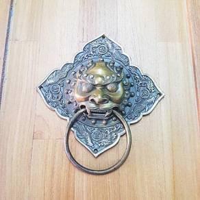 Antique Copper Lion Head Door knocker Statue