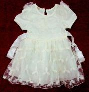 Laces Gown Dress For Baby - Creamy White
