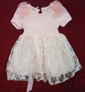 Laces Gown Dress For Baby - A Peach color