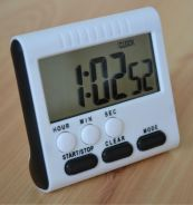 LCD Clock Digital Kitchen Timer Alarm Count Up