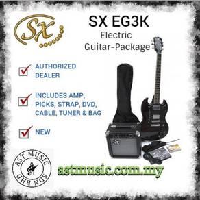 SX EG3K Electric Guitar Package