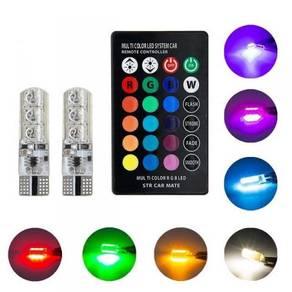 Bulb LED T10 Pakai Remote Pelbagai Warna - BARU