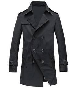 339 Trench Long Coat Winter Blazer Suit Man Jacket