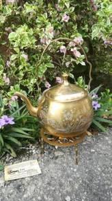 Ber1 Antique Brass Teapot Teko Tembaga Antik Set