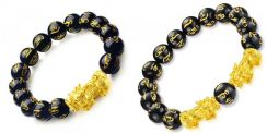 24K Gold Plated Six Syllables Pixiu Bracelet