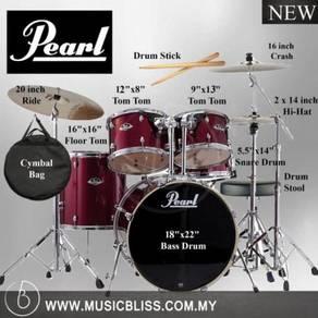 Pearl Export EXX725P/C 5pc Drum Set (Wine Red)