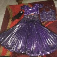 Bollywood purple lengha
