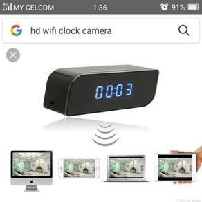 Hd wifi digital clock camera