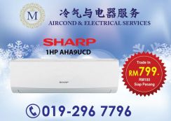 BIG SALE Brand New SHARP 1.0hp Aircond 799