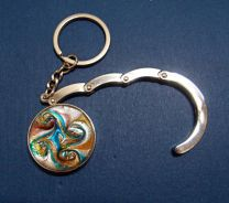 Handbag/Purse Spiral Hook+Keychain (N.Zealand)