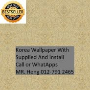 Beautiful In Wall paper with Installation hk46