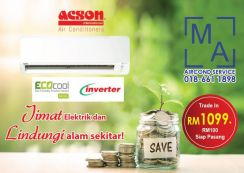 Best offer 1hp Inverter ACSON aircond