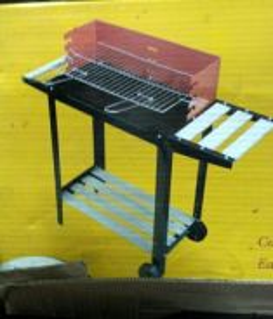Portable bbq set
