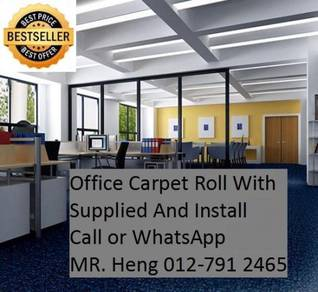 Classic Plain Design Carpet Roll with Install b0