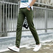 (472 Army Green Plain Casual Business Formal Pants