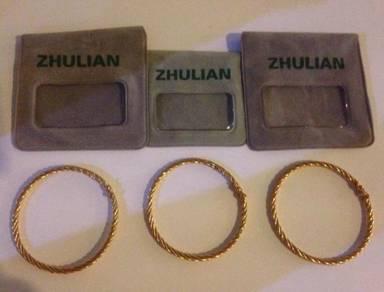 Bracelet gelang tangan emas gold Zhulian zulian