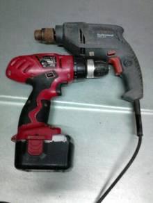 2 Drill,1cordless,1 cutter 3 units clear murah2.