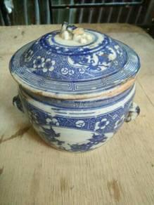 Antique porcelain pot
