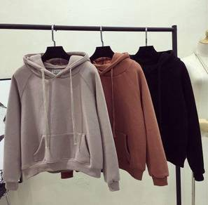 5682 Thick Pocket Hooded Sweater Cotton Fleece