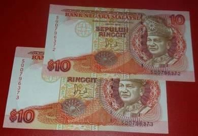RM10 Jaafar Hussein SQ0796372-73 (2 pcs)