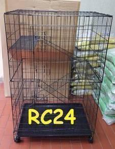 Sangkar Kucing FREE 1 DOUBLE BOWL