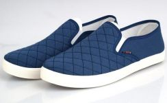J0248 Blue Simple Slip On Loafer Man Casual Shoes