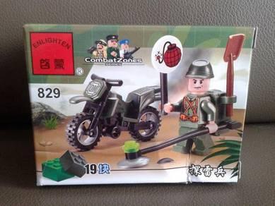 Brick Army Motorcycle 829 Enlighten