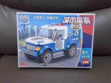 Brick Police Jeep TS10117