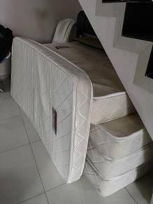 Single bedsheet + bedframe 1set