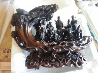 Vintage wooden like statue