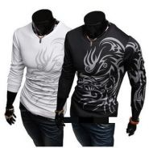 Tattooist Slim Fit Long Sleeve T-Shirt (White)