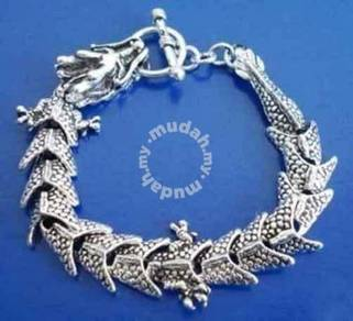 ABBSM-B003 Exquisite Silver Metal Dragon Bracelet