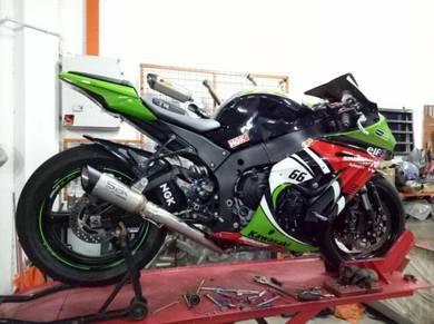 Kawasaki ZX10R exhaust SBK Performance SP1 ekzos