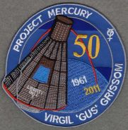 Liberty Bell 7 50th Anniv Grissom Space Patch