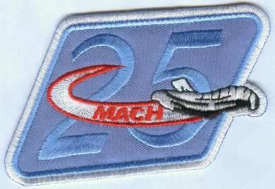 NASA Astronaut Mach 25 Speed Shuttle Space Patch